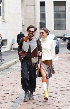 Giotto Calendoli & Patricia Manfield #streetstyle #missoni