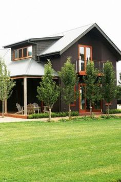 like color scheme maybe just a little lighter on the siding color - Interesting appeal *modern rustic