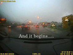 DashCam: Crazy Rain & Hail Storm! Driving Blinded - 6/25/2010, via YouTube.
