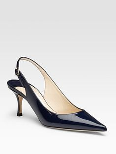46deffe36316 Jimmy Choo - Light Patent Leather Slingback Pumps