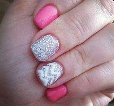 beautiful pink nail design idea #nail #nails 20 Pink Nail Art Ideas