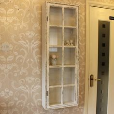 Antique White Distressed Wall Display Cabinet - Display Cabinets - Browse by Product