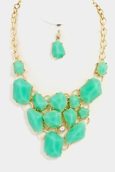 Chunky Statement Necklace in Mint – ROUTE 32