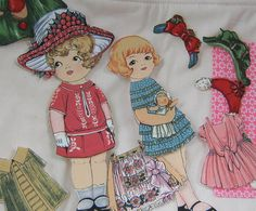 Paper Dolls Girls Fabric Toy by bungalowquilts on Etsy, $24.00