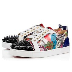 b5088a192a6 LOUIS JUNIOR SPIKES WOMAN VERNIS TRASH Multi Patent Calfskin - Women Shoes  - Christian Louboutin