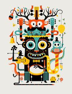 Music Monster by Methane Studios by methanestudios on Etsy, $30.00