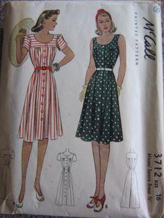 McCall 3712: Misses' sports dress
