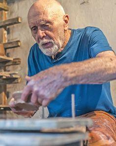 Warren MacKenzie at the Leach Pottery - September 2013