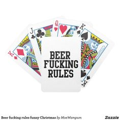 Beer fucking rules funny Christmas