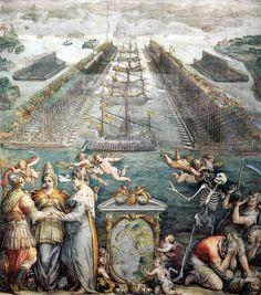 The Battle of Lepanto 1572 - GIORGIO VASARI (Arezzo, 30 luglio 1511 – Firenze, 27 giugno 1574) #TuscanyAgriturismoGiratola