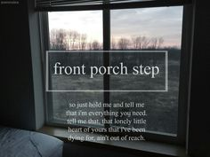 Private Fears In Public Places - Front Porch Step