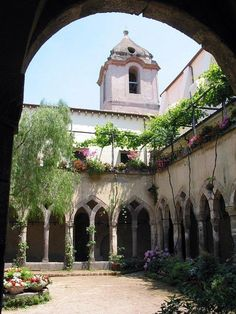 Cloisters of San Francesco, Sorrento in Italy.