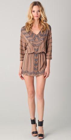 Haute Hippie Sequin V Neck Dress