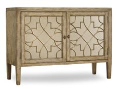 Mirrored Furniture | Surf Visage 2 Door Mirrored Console | Sanctuary | Console Table | Hooker Furniture