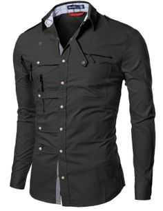 Mens shirts with Zipper point