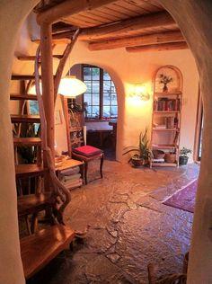Cob house interior naturalbuildingen...