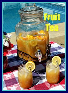 Here is what you will need for this:   2 family size tea bags or 8 individual tea bags 4 cups boiling water 1  1/2 - 2 cups sugar (according to your taste) 1 (6 oz.) can frozen orange juice concentrate 1 (6 oz.) can frozen lemonade 1 cup pineapple juice 10 cups water 1 lemon, sliced in thin slices 1 lime, sliced in thin slices 1 orange, sliced in thin slices 1 cup maraschino cherries, drained (optional)