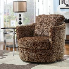 Wildon Home ® San Augustine Leopard Print Swivel Chair | eBay   http://stores.shop.ebay.com/jodezegiftsnmore #leopard #chair #home #funiture