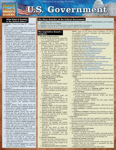 U.S. Government Laminated Reference Guide This newly revised and updated edition of the best-selling U.S. Government study guide features an even more comprehensive, in-depth look at the workings of A