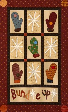 Mittens and Snowflakes Wall Quilt