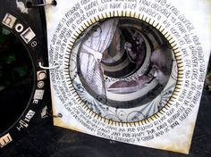 Through the Rabbit Hole is an Alice inspired Tunnel book including the original John Tenniel illustrations from the original Alice in Wonderland and Through the Looking Glass Books by Lewis Carrol. Black and white and color versions by Ingrid Dijkers Journal D'art, Art Journals, Ideas Collage, Concertina Book, Libros Pop-up, Art Postal, Glass Book, Buch Design, Altered Book Art