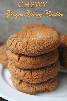 Chewy Ginger Honey Cookies Recipe - Soft Ginger Cookies Recipe - Yummy Tummy