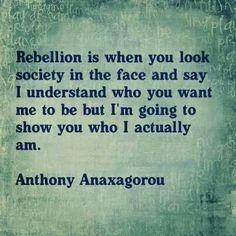 Rebel against unhealthy societal norms