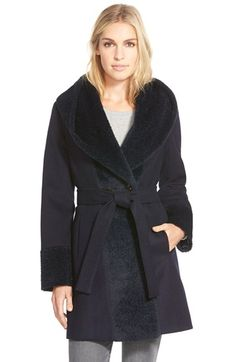 Trina Turk 'Jane' Wool Blend Wrap Coat