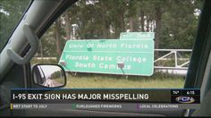 Oops: 'Flordia' misspelling makes it to Interstate 95 sign