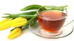 bebidas de chá e tulipas amarelas Papéis de Parede - 3840x2160 UHD 4K