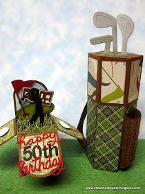 Creations by Patti: Golf Birthday Box Card n Treat Holder