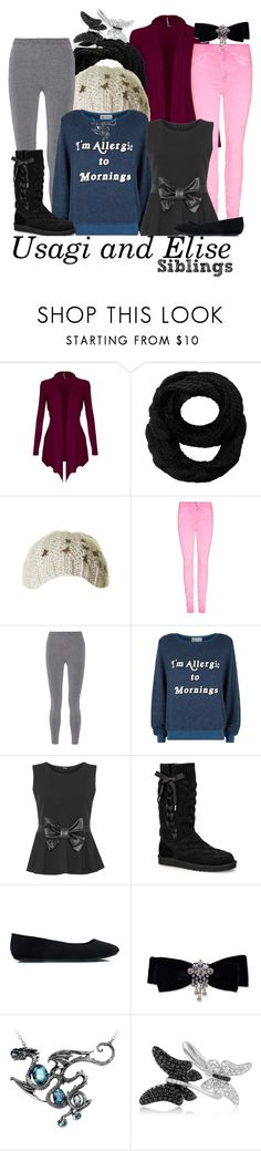 """""""Fire Emblem Fates"""" by uprisingdragon ❤ liked on Polyvore featuring Peach Couture, T By Alexander Wang, Wildfox, WearAll, UGG Australia, Effy Jewelry and plus size clothing"""