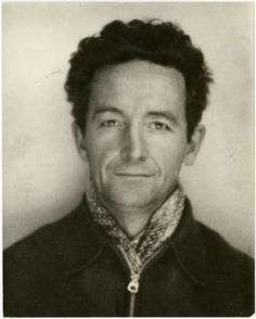 A Woody Guthrie paleo-selfie, from a subway photo booth, ca. 1945. WGA via Dangerous Minds