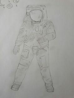 Un petit astronaute  (J'ai évidemment utilisé un modèle)