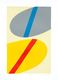"""Saatchi Online Artist: Ian Scaife; Screen-printing, 2013, Printmaking """"Stripes - Red and Blue"""""""