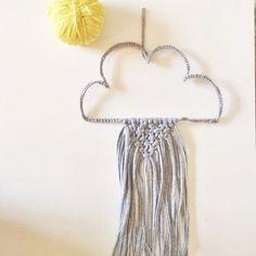 Wand hängen Wolken im Makramee