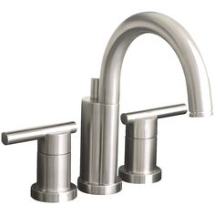 Add a contemporary touch to your bathroom with this faucet featuring a sleek brushed nickel finish. This faucet is constructed using brass and is certified lead free for extra safety and added durability.