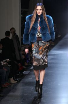 Am loving the colored furs.  Fur is going to be so big in the fall!