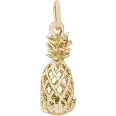 Hollow Pineapple Charm (Choose Metal) by Rembrandt (535 ARS) ❤ liked on Polyvore featuring jewelry, pendants, charm jewelry, pineapple charm, metal charms, charm pendant and pineapple jewelry