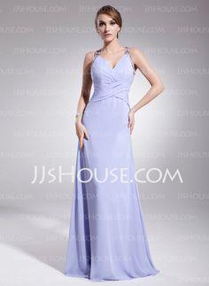 Evening Dresses - $138.99 - A-Line/Princess V-neck Floor-Length Chiffon Evening Dress With Ruffle Beading (017014573) http://jjshouse.com/A-Line-Princess-V-Neck-Floor-Length-Chiffon-Evening-Dress-With-Ruffle-Beading-017014573-g14573?no_banner=1&utm_source=facebook&utm_medium=post&utm_campaign=6005941673279&utm_content=130925J_4