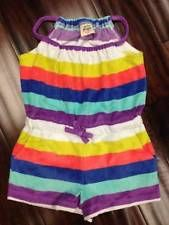 Mini Boden  Toweling Playsuit  Multi-Colored Stripes New With Tags 1.5 -2 Y