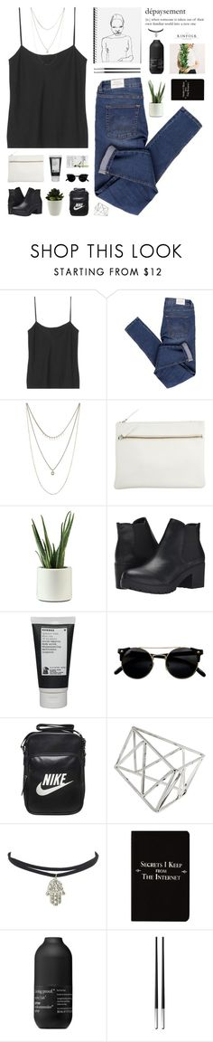 """""""all we know"""" by flying-baby-unicorn ❤ liked on Polyvore featuring The Row, Cheap Monday, Lucky Brand, Park House, Steve Madden, Korres, NIKE, Topshop, Rich and Damned and Living Proof"""