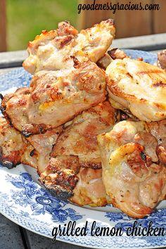 Grilled Lemon Chicken- So good!