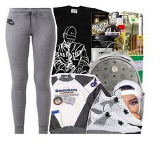"""Pen Griffey"" by xbad-gyalx ❤ liked on Polyvore featuring MCM, adidas and NIKE"
