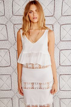 f65fb517413 Skye Crop - White. Stone Cold FoxLace Top DressSleeveless ...