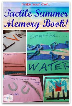 Make a tactile summer memory book with your child who is blind or visually impaired so they can remember what they did over summer break and share with their classmates in the fall!