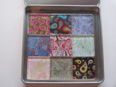 Paisley Refrigerator Magnets Set of 9 Fridge Magnets by DLRjewelry, $16.00