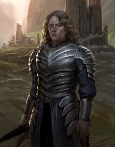 f Fighter Plate Armor Sword Keep female Hills by Jeremy Fenske Fluted Armor Knight of Roses lg Got Characters, Fantasy Characters, Fantasy Books, Fantasy World, Knight Of Flowers, Game Of Thrones Illustrations, Icewind Dale, Concept Art World, Great Tv Shows