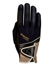 On aime ces élégants gants de sport Roeckl noir et or à la fois confortables et techniques.