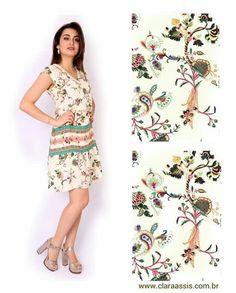 Vestido cod: 24.739 Tecido viscose La Estampa.  www.claraassis.com.br